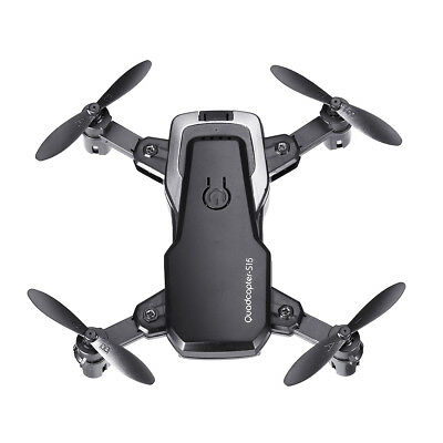 Foldable Pocket Drone 2.4G Mini RC Quadcopter Headless Mode Altitude Hold Black