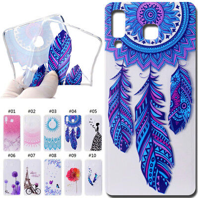 For Samsung Soft Silicone Protective Case Cover Pattern Rubber TPU Clear Skin