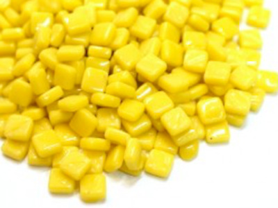 Small Yellow Opal 8mm Glass Mosaic Tiles for Art & Craft Supplies