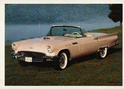 1957 T-Bird Ford Thunderbird, Dream Cars Trading Card, Automobile - Not Postcard