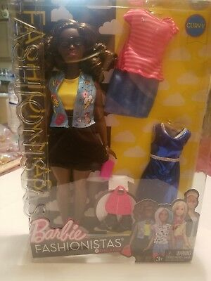 Barbie Fashionistas Bundle Pack - African American (Curvy) #39  NIP