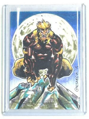 2016 Marvel Masterpieces SABRETOOTH Sketch by CYRUS MESARCIA