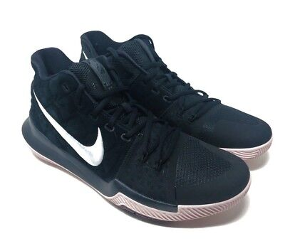 aa89e6ff2582 NIKE KYRIE 3 Black White Silt Red 852395 010 Mens Brand New Size 12 ...