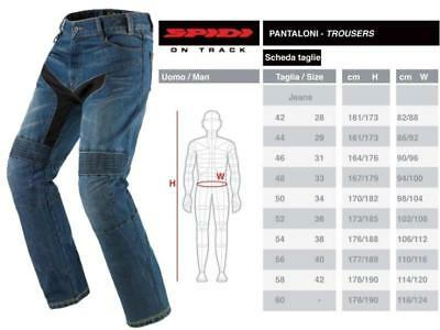 SPIDI PANTALONI DA moto Furious Denim Jeans Super Stone Wash tg. 58