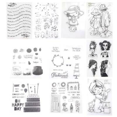 Transparent Silicone Clear Stamp Cling Seal Scrapbook Embossing Album Decor