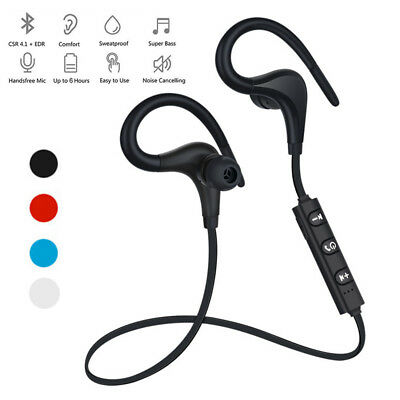 Wireless Bluetooth V4.1 Headset Stereo With Mic Headphone Earbuds Sport Earphone