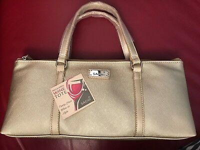 Sachi Wine Bottle Insulated Cooler Bag Tote Carrier Purse Handbag - New