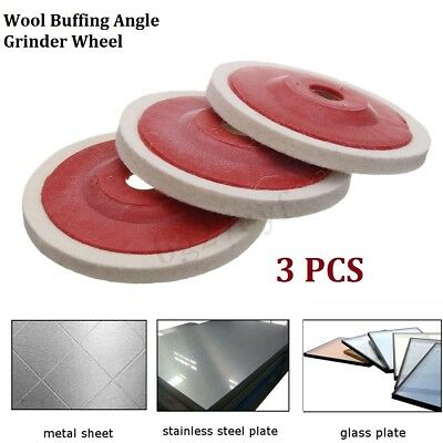 3PCS 100mm 4Inch Wool Buffing Angle Grinding Pad Wheel Polishing Disc Felt