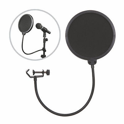 Double Layer Recording Studio Microphone Mic Wind Screen Filter Mask Shield#6