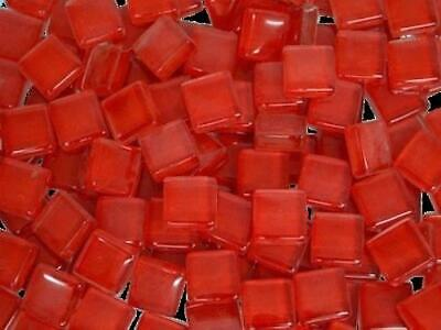 Red Crystal Glass Mosaic Tiles 1cm for Art & Craft Supplies