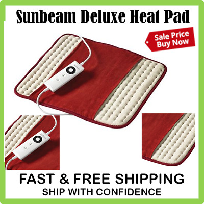 Sunbeam Deluxe Heat Pad Soothing Pain Relief Heating Mat Electric Joint Tension