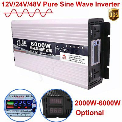 Intelligent Pure Sine Wave Inverter 2000-6000W DC12V 24V 48V 60V to AC 110V/220V