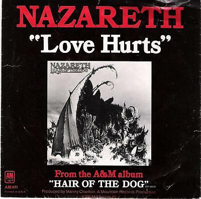"""Nazareth - """"LOVE HURTS"""" / """"HAIR OF THE DOG"""" - BRAND NEW PIC SLEEVE 45RPM RECORD!"""