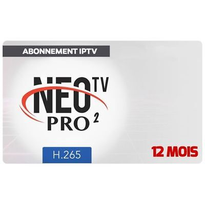 NEO TV PRO2 H.265, 12 months code and M3U Smart TV,android box, MAG