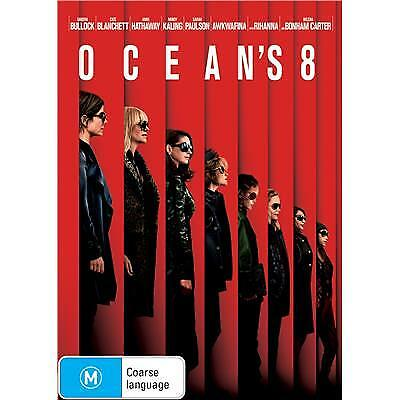 Oceans 8 Dvd, New & Sealed, 2018 Release, Region 4, Free Post