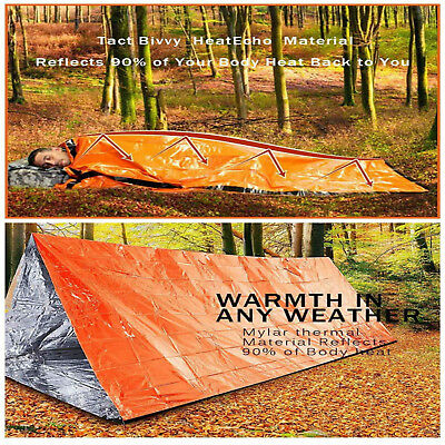 5X Outdoor Survival Emergency Waterproof Sleeping Bag Camping Rescue Thermal Bag