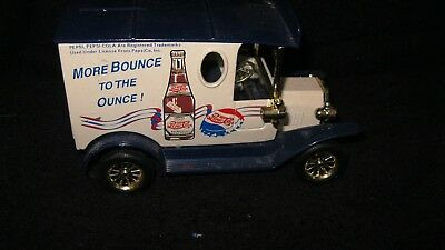 "Pepsi Cola Truck Bank With Key ""more Bounce To The Ounce"""