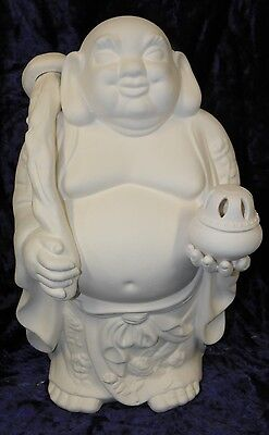 Ready to Paint Ceramic Bisque- Large Hoi Toi Tavelling  Buddha