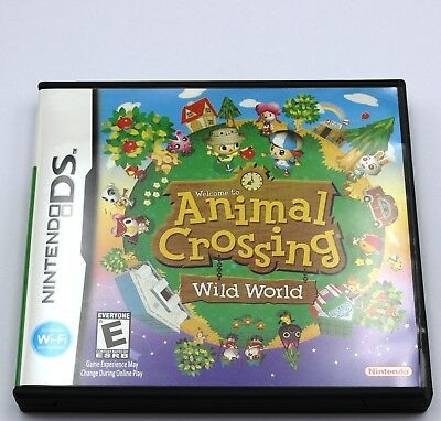 Animal Crossing Wild World Set Nintendo DS Game NDS Lite DSi 2DS 3DS XL a F01