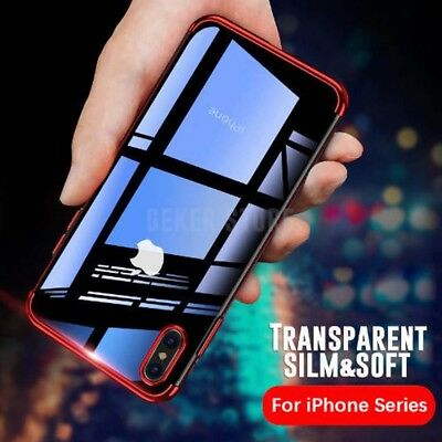 "Luxury Ultra Slim Shockproof Silicone Clear Case Cover for iPhone XR 6.1"" inch"