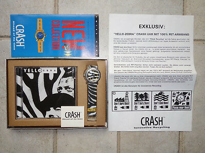 YELLO Zebra Tin Box with Watch in Yello-Design Catalogue, Manual, Warranty Sheet