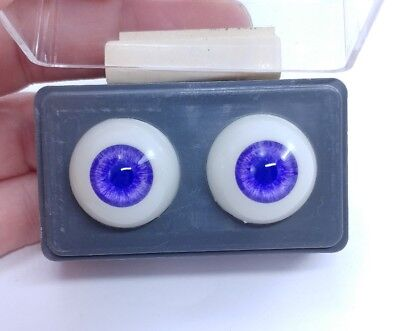 GLASTIC Realistic DOLL EYES BLUE//GREY 20 MM