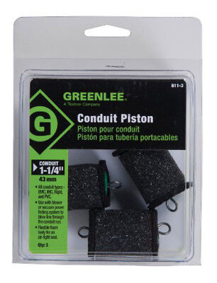 """Greenlee 611-3 Piston For 1-1/4"""" Conduit, 3 Pack"""