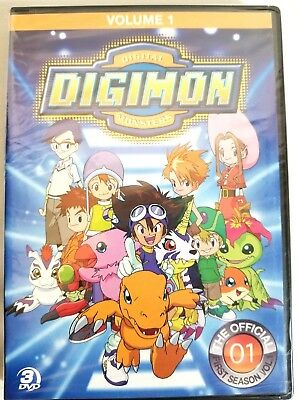 Digimon Digital Monsters The Official First Season Vol 1 DVD 2012 3-Disc New