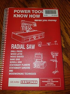 """(1985 VG) Sears Craftsman """"Router Power Tool Know How Book"""" Revised"""