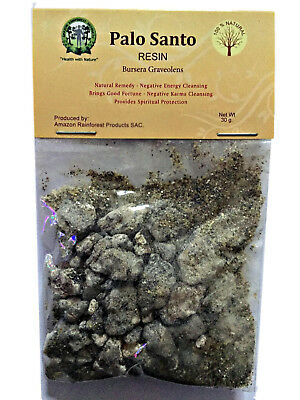 Palo Santo Incense Resin-Pure 100% Holy Wood Tree Resins 15g-30g Finest Peruvia