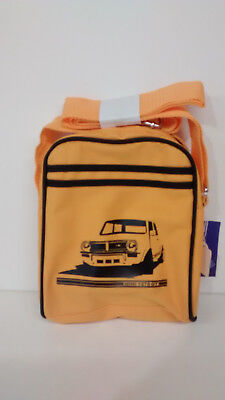 classic mini yellow/black 1275gt themed reporters style bag free p&P