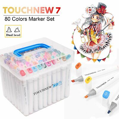 TOUCH7 Twin Tip MARKER PENS 80 Colours Graphic Sketch Art Markers Artists Copic
