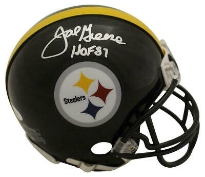657c8aaec Joe Greene Autographed Signed Pittsburgh Steelers Mini Helmet HOF JSA 23829