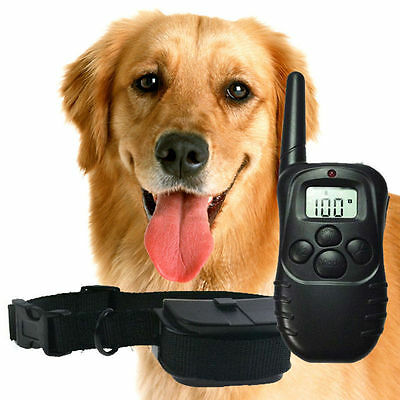 100LV 300Meter Level LCD Dog Training Collar Electric Shock Vibration Remote