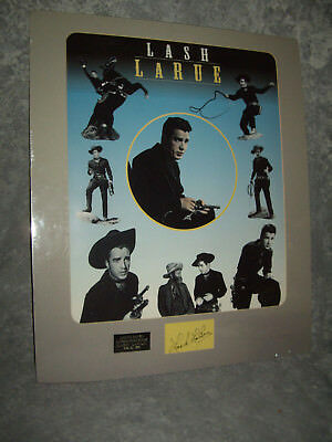 Lash LaRue Of Movie Fame -  Autographed Poster W/DOA Series 2 - 184 Of 500