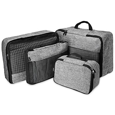 ProCase 4 Set Packing Cubes for Travel, Lightweight Compression Multi-functional