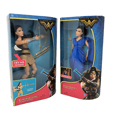 """NEW! DC Wonder Woman 12"""" Bow-Wielding & 12"""" Diana Prince Action Figure Lot of 2!"""