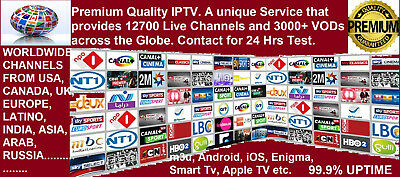 Worldwide Premium IPTV 12700 Live Ch & 3000+ VODs-USA,CA,UK,ASIA,ARAB,INDIA,EURP