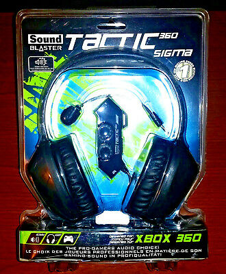 Creative Sound Blaster Tactic360 Sigma Xbox 360 PC Ps4 Gaming Headset Headphones