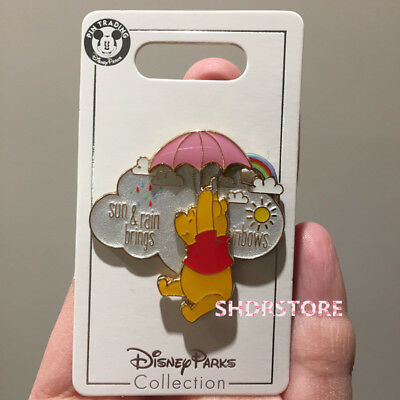 Disney Pin 2018 winnie the pooh sun rain Shanghai Disneyland park exclusive