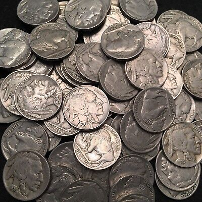 ✯ 1913-1938 Buffalo Nickels (5-coin lot) ✯