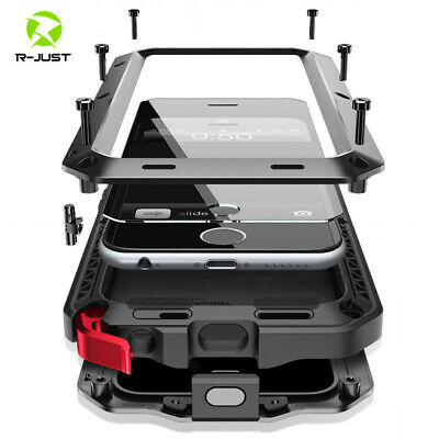 For iPhone Xs Max XR 7 8 Waterproof Aluminum Metal Gorilla Shockproof Case Cover