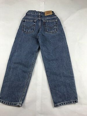 Kids Youth Levi 550 Relaxed Fit Blue Denim Jeans Size 7