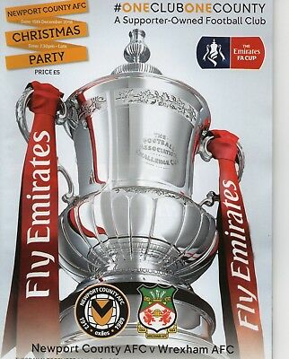 Newport County v Wrexham AFC (FA Cup Replay) 2018-2019