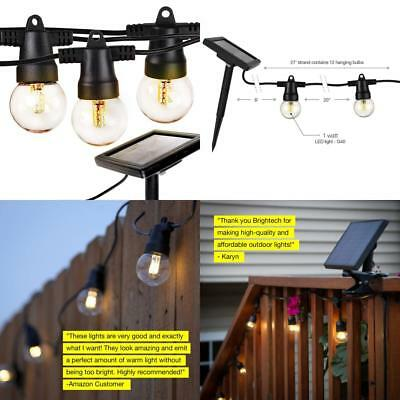 Brightech Ambience Pro - Waterproof Solar LED Outdoor String Lights –...