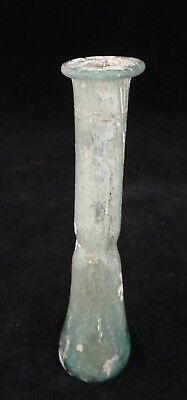 "Ancient Holy Land Roman glass Vial c. 1st -3rd cent. 4 1/2""tall."