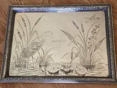 HUGE 1870s-1880s Eastlake Victorian AESTHETIC Movement Silver Plated Tray HEAVY!