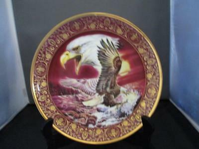 """Royal Doulton 8"""" Eagle Collectors Plate ~Shores of Freedom ~Franklin Mint ~ New"""