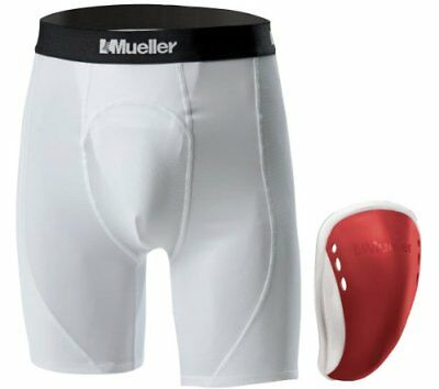 Mueller 58410 Short Flex vaso – Teen, regular, color rojo