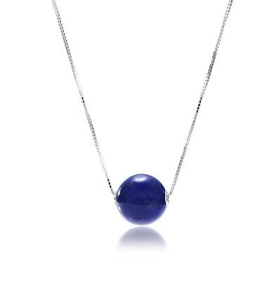 Exotic Lapis Lazuli gemstone pendant in Sterling 925 silver. natural untreated
